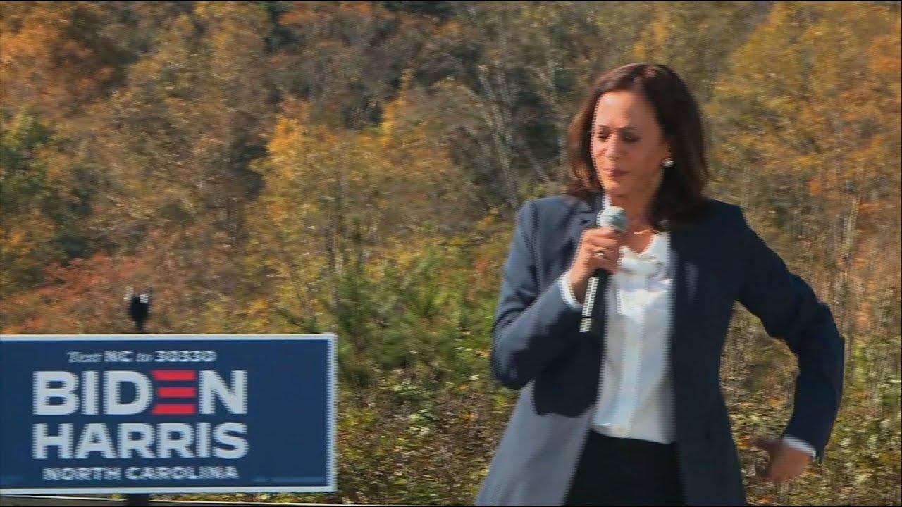 Harris rallies NC voters hours before Trump