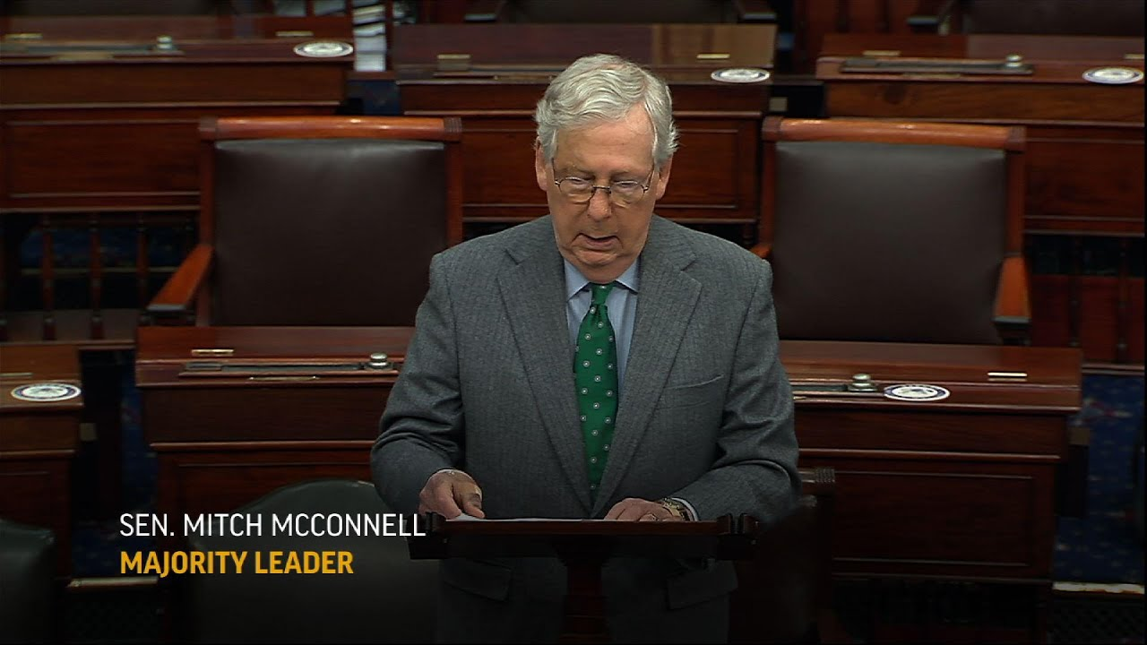McConnell to push vote on relief bill set to fail