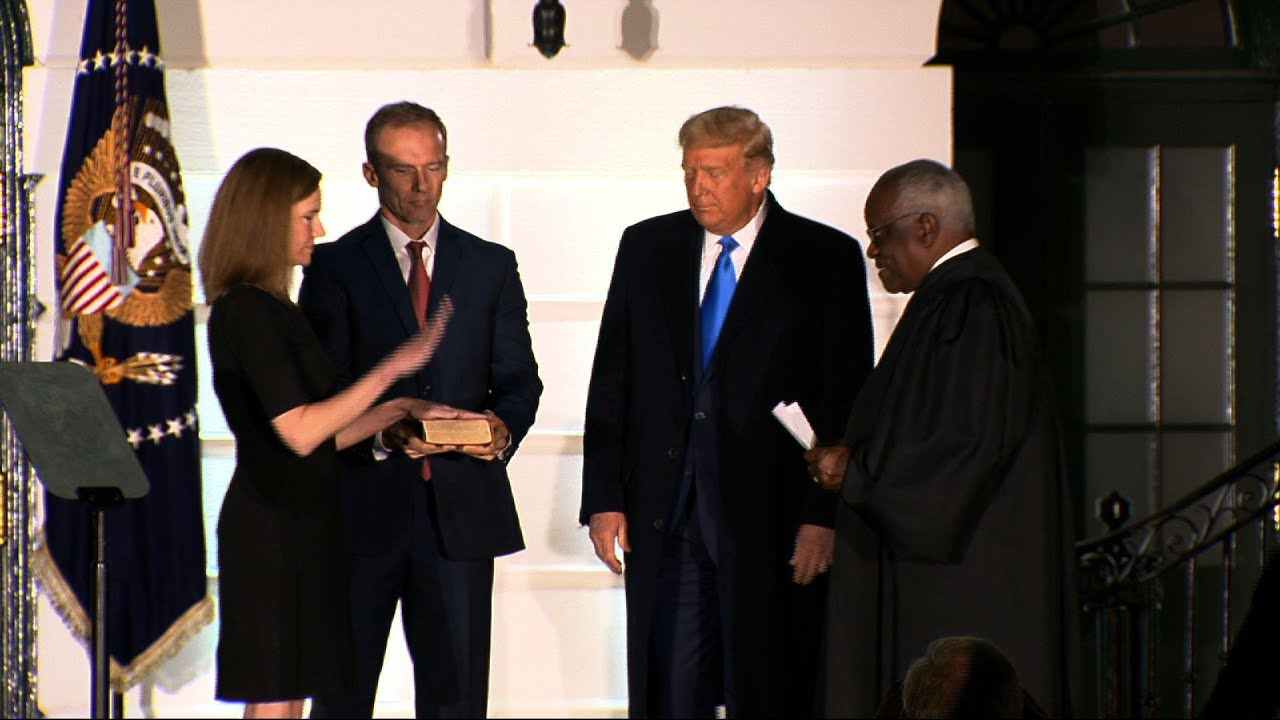 Amy Coney Barrett takes oath to join Supreme Court
