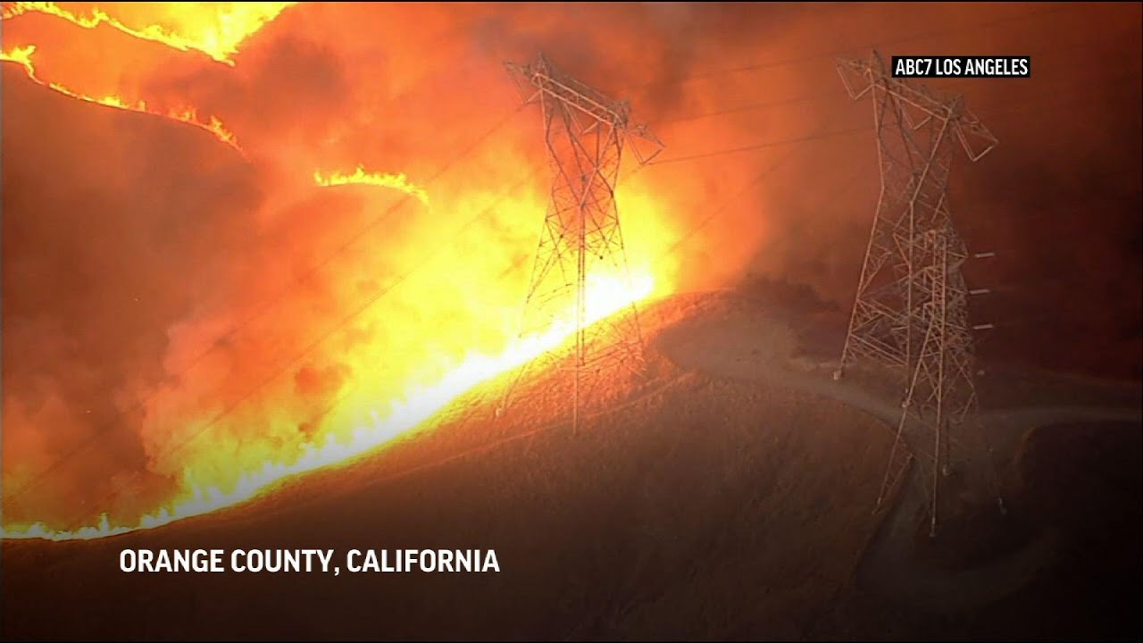 Crews fight out-of-control California wildfires