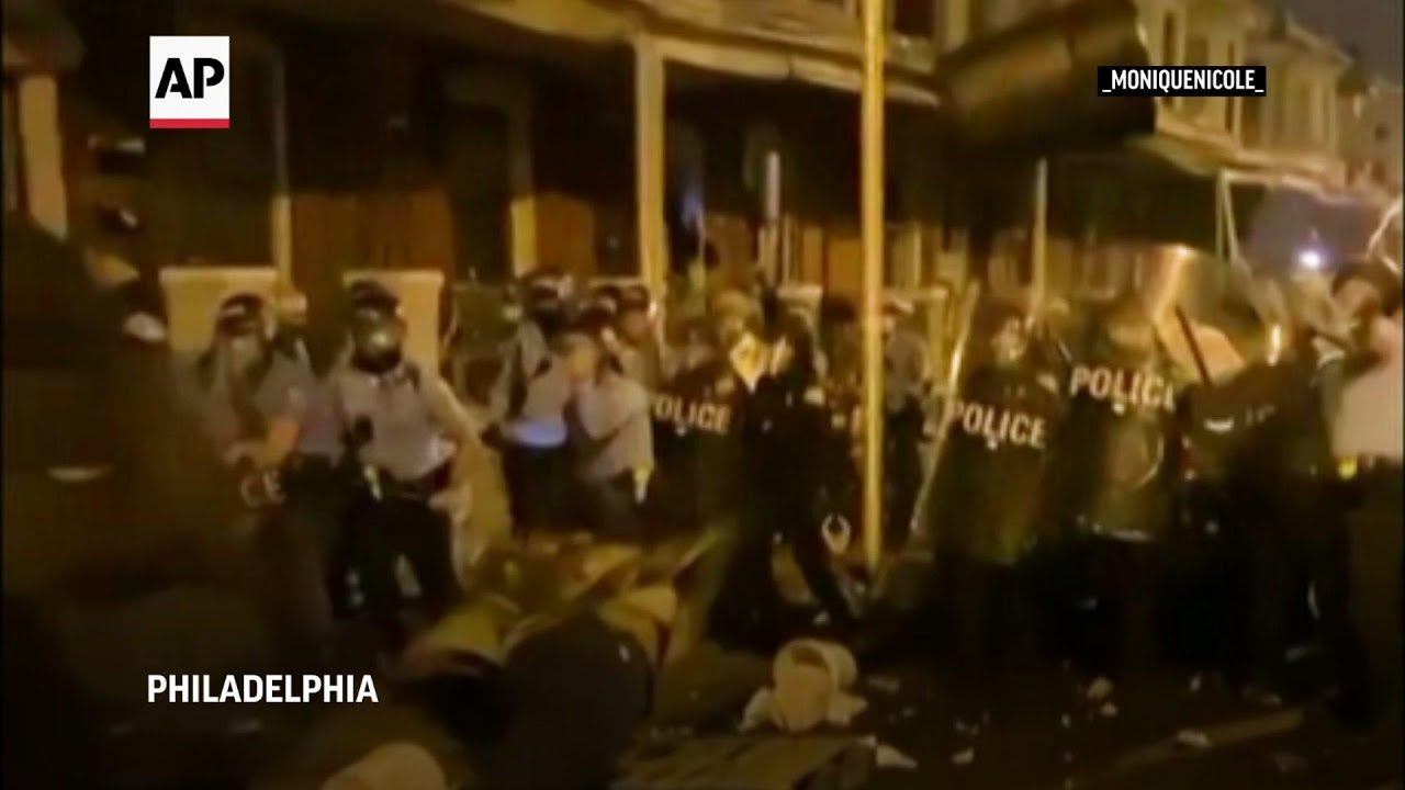 Protesters square off with police in Philadelphia
