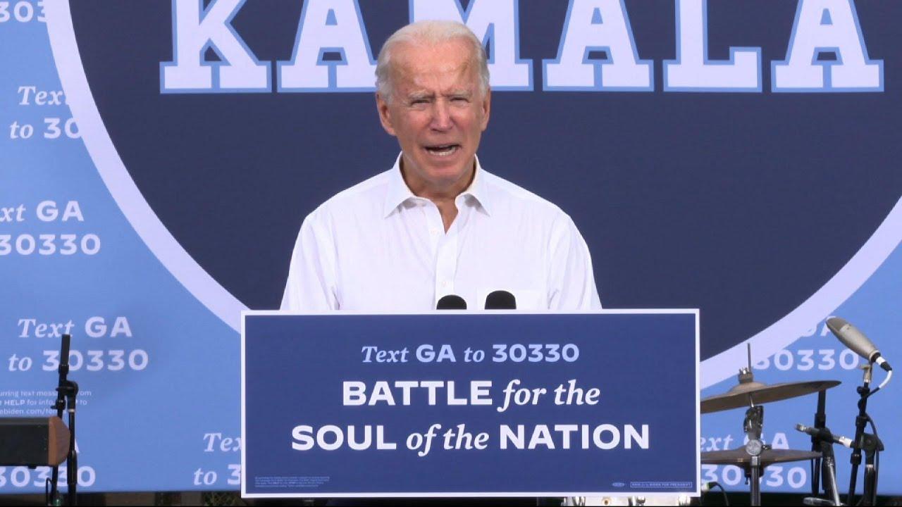 Joe Biden is setting the stakes for Georgia voters