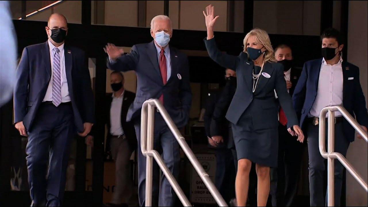 Biden's' vote, denounces violence in Philadelphia