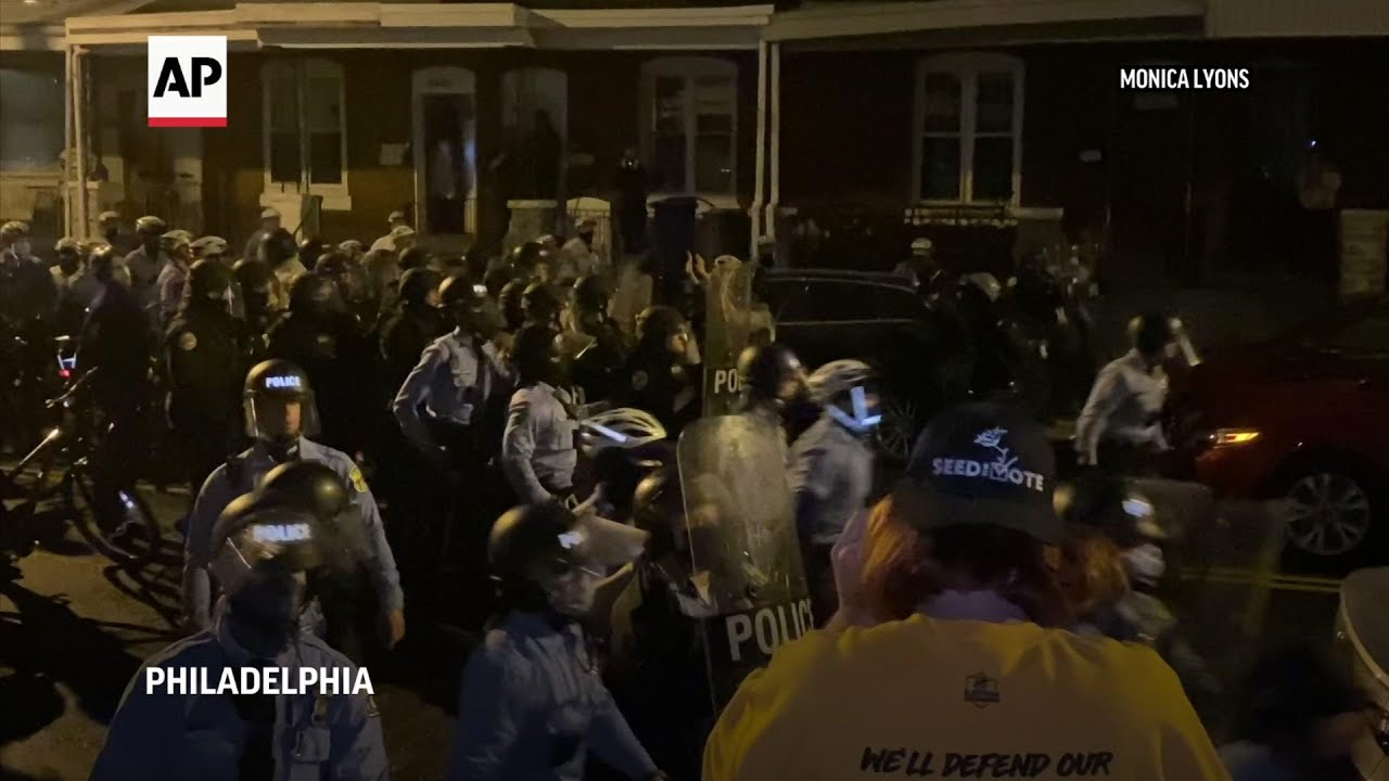 Protester beaten by officer after fatal PA shooting