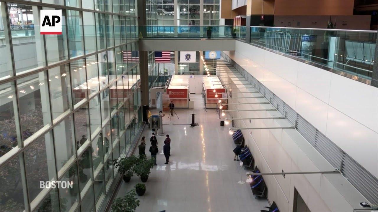 Virus testing site opens at Boston's Logan Airport