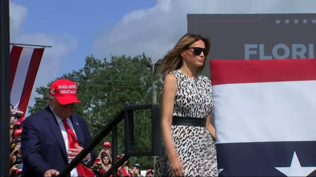 Trump, First Lady campaign together in Florida