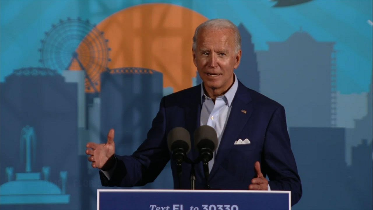 Biden hits Trump on COVID, climate change in Tampa