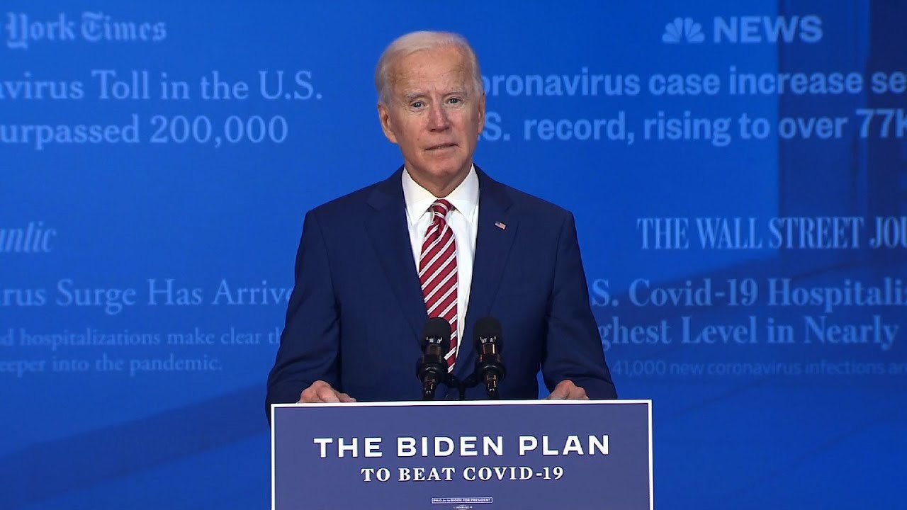 Biden lays out plan to tackle coronavirus pandemic