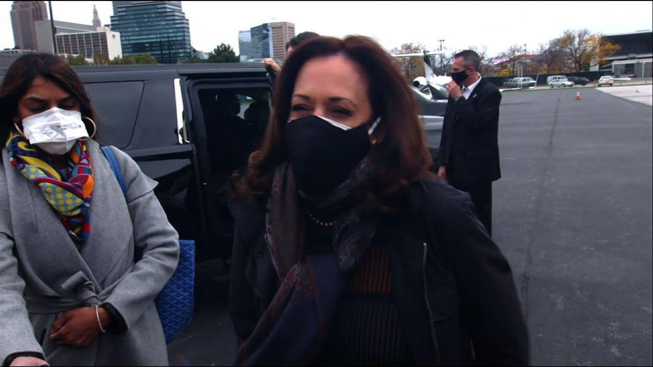 Kamala Harris travels to Ohio to urge early voting