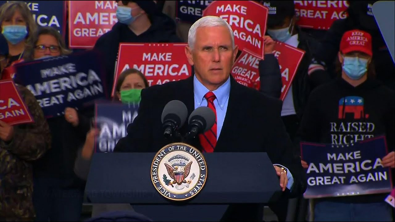 Pence talks trade, economy at Mich. campaign stop