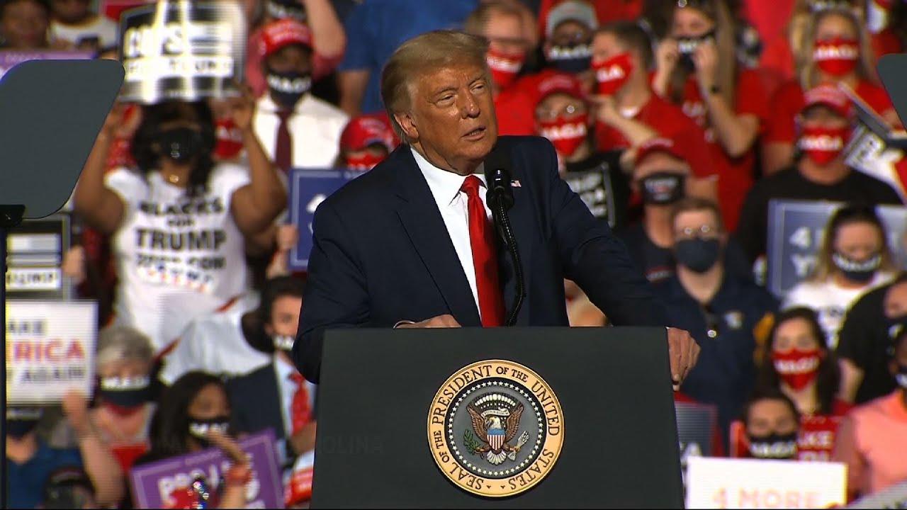 Trump paints dystopian picture of US under Biden
