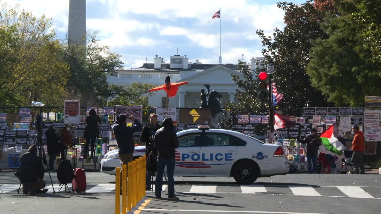 White House, stores prep for US election protests