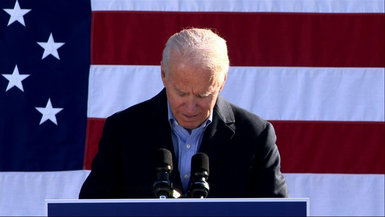 Biden stumps for union support near Pittsburgh