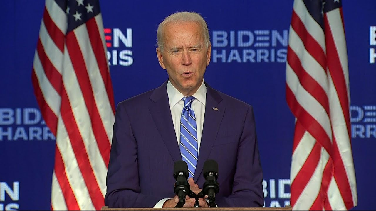 'Confident' Biden urges unity as votes are counted