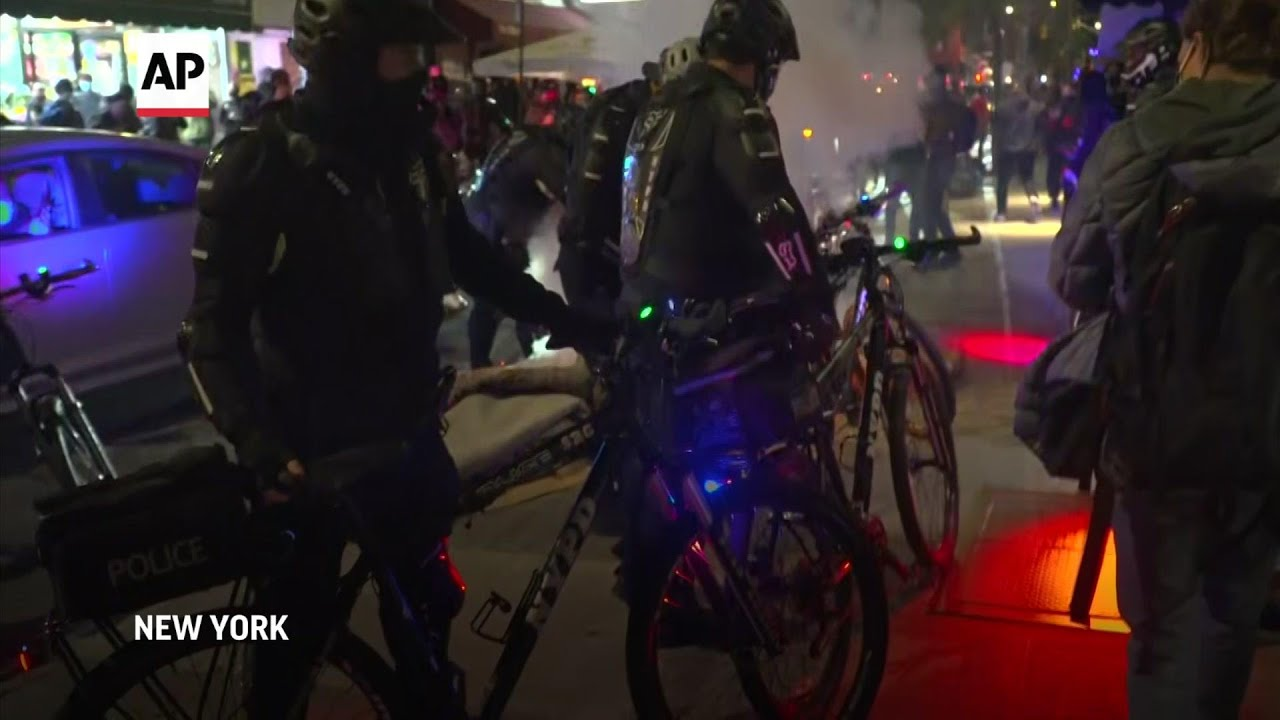 More arrests made after fires set in NYC protest