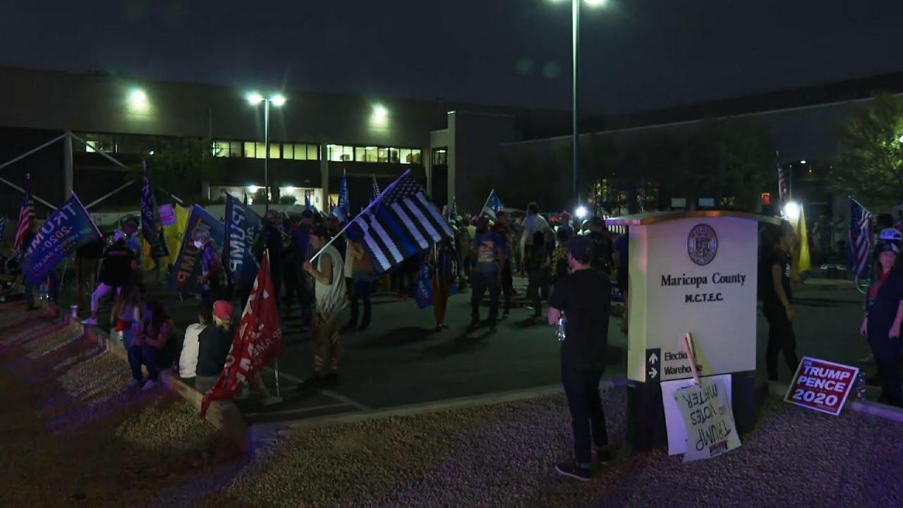 Trump backers protest amid Arizona ballot count