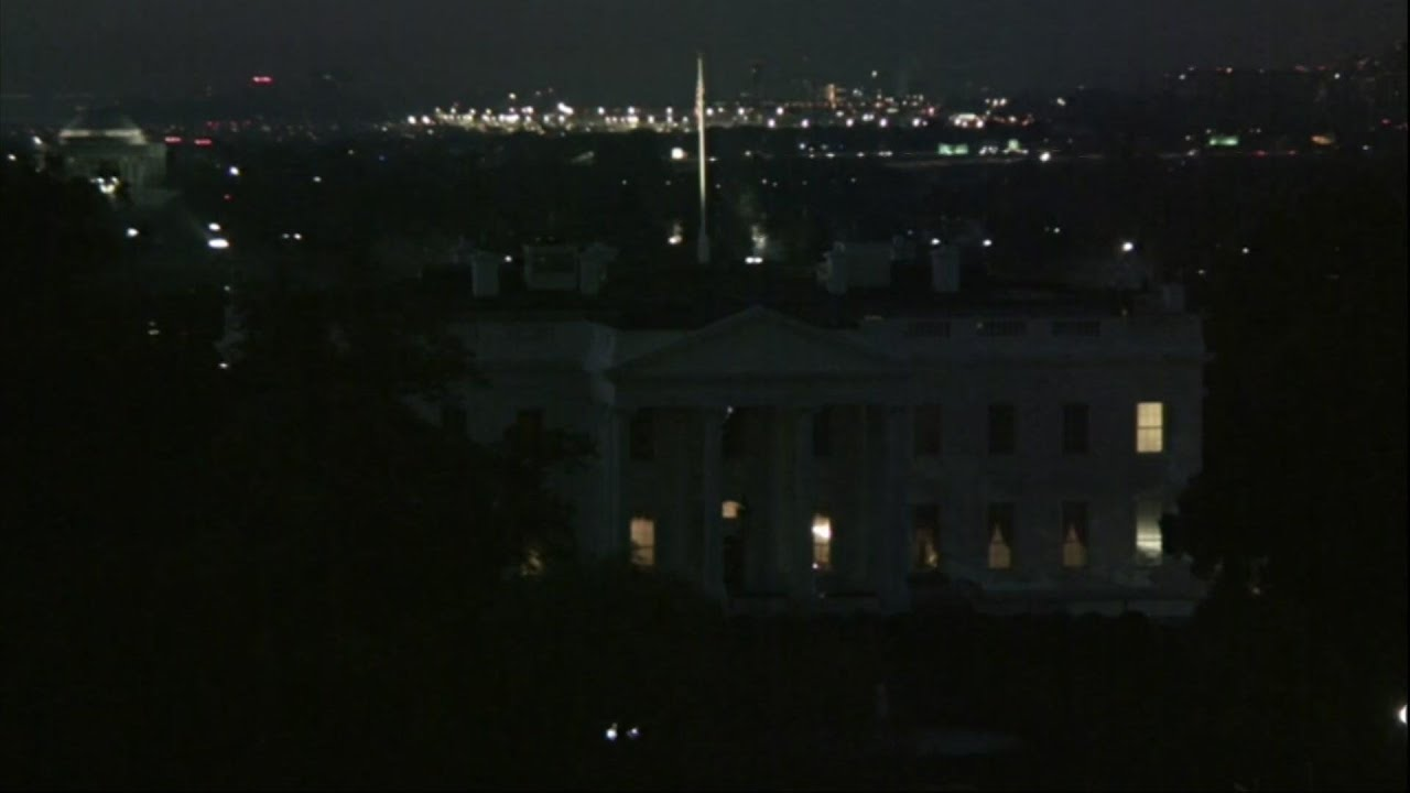 Timelapse of sunrise over White House as votes counted