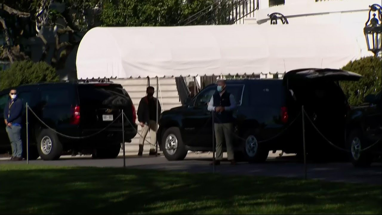 Trump seen leaving White House as count nears end