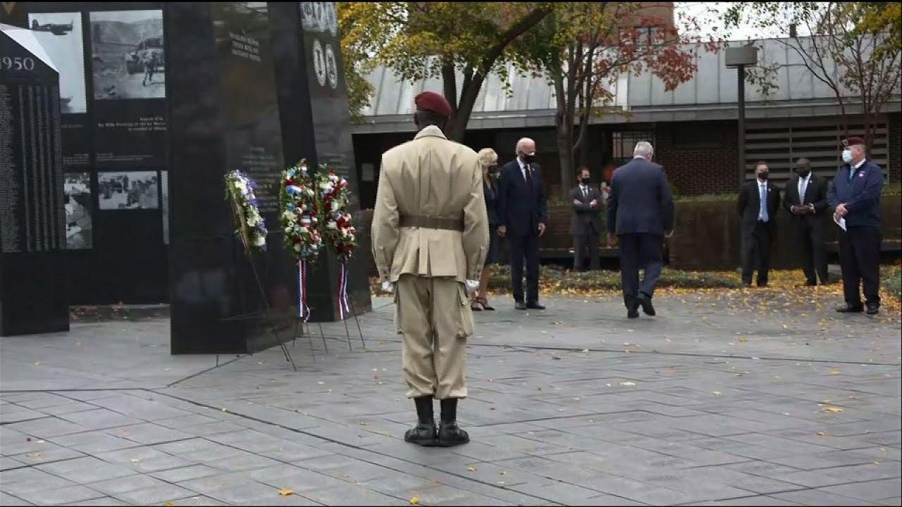 Biden lays wreath honoring Veterans Day in Philly