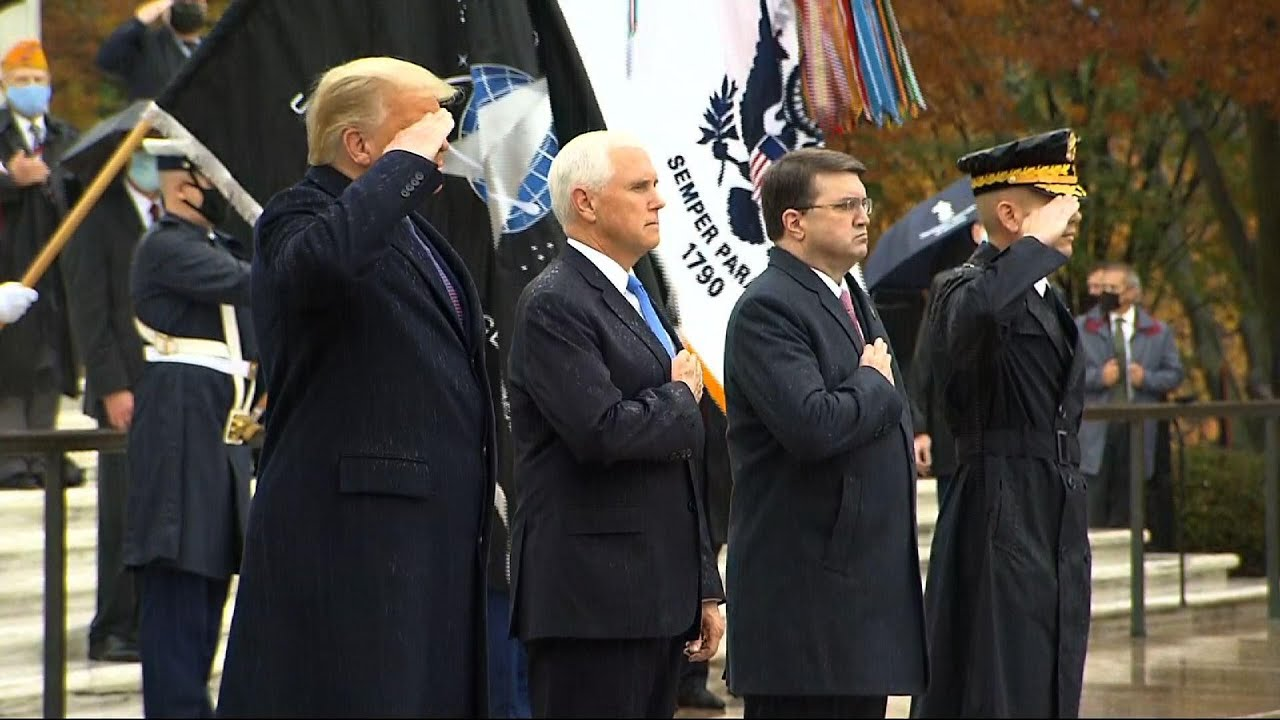 Trump honors Veterans Day at Tomb of the Unknown