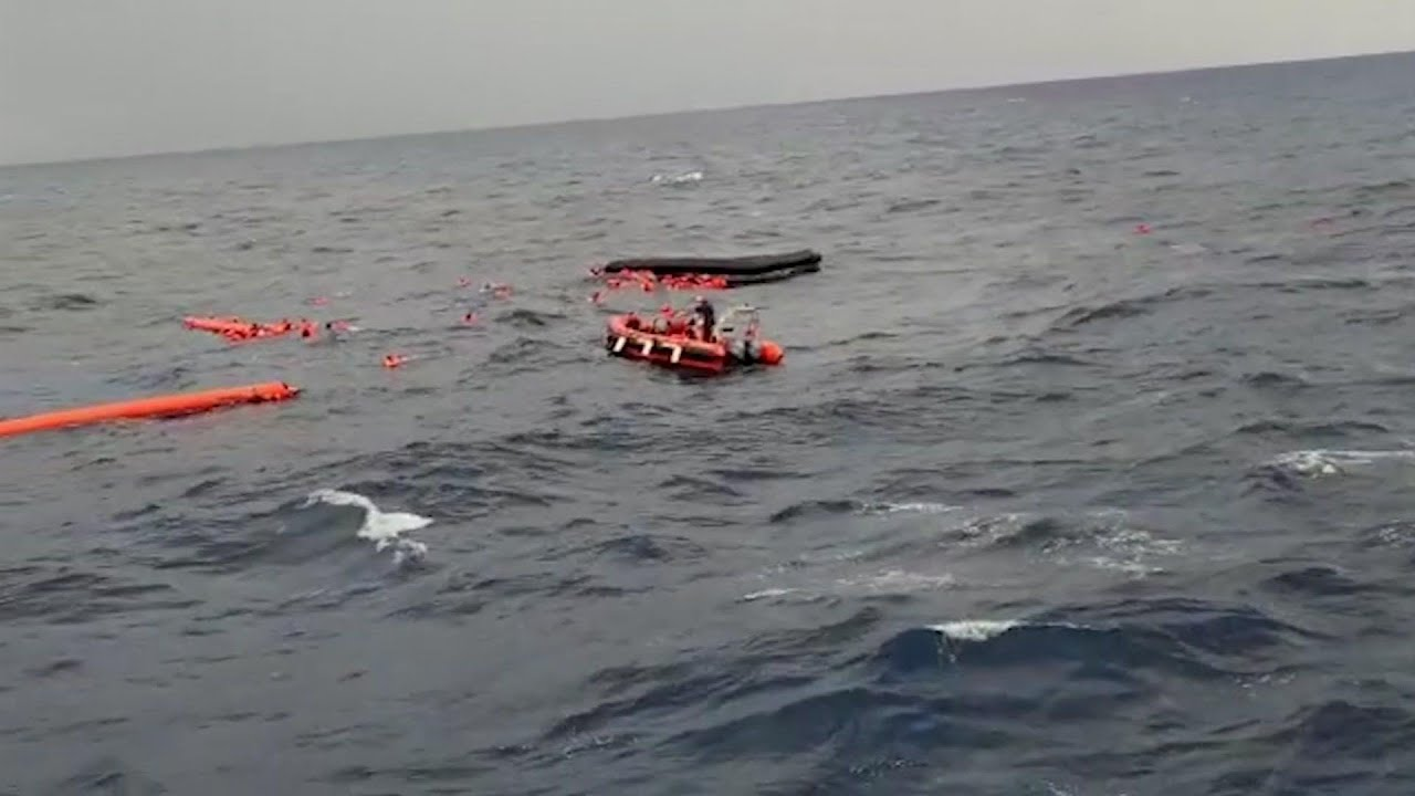 Group rescues migrants at sea, at least five dead