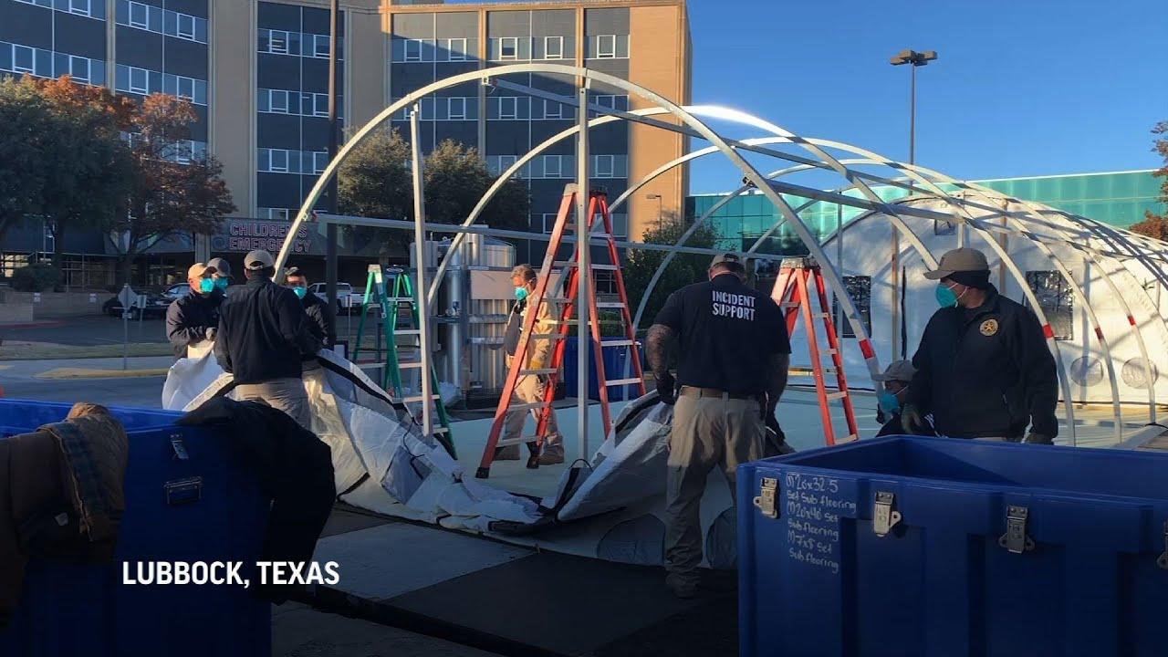 Texas hospital builds tent amid COVID spike