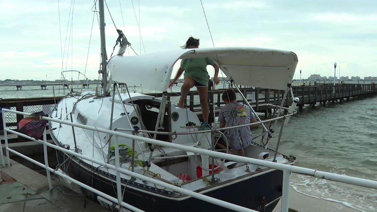 In wake of storm Eta, boats wash ashore in Florida
