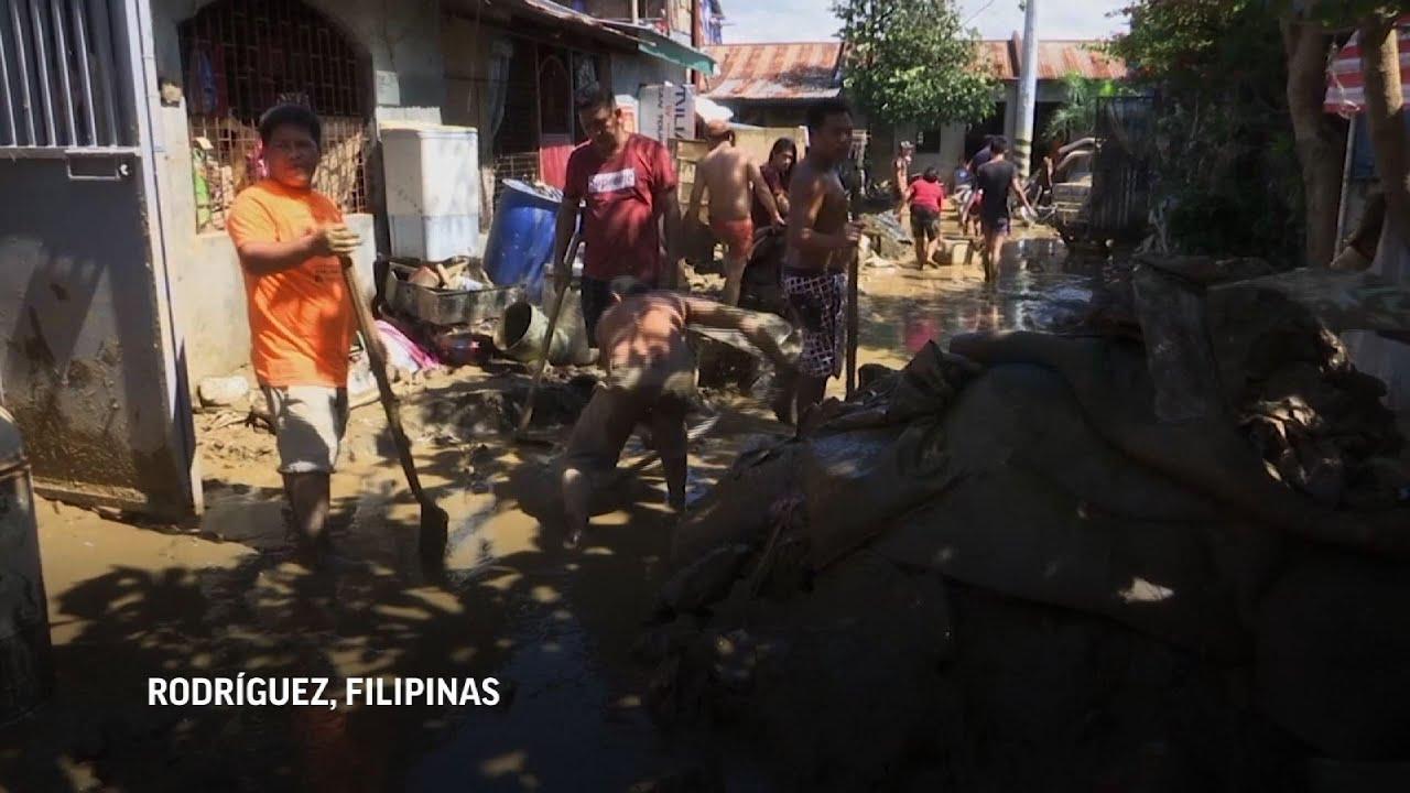 Los residentes describen la terrible experiencia con tifón en Filipinas