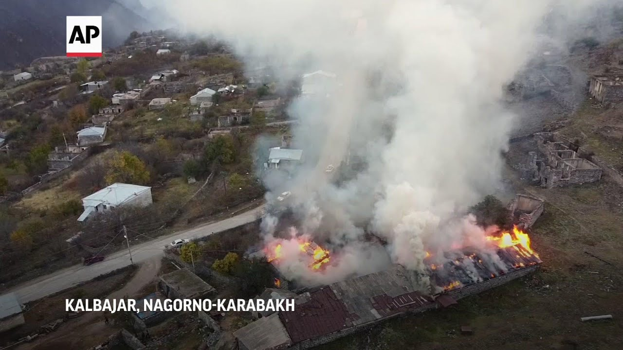 Kalbajar residents burn homes before Azerbaijan handover