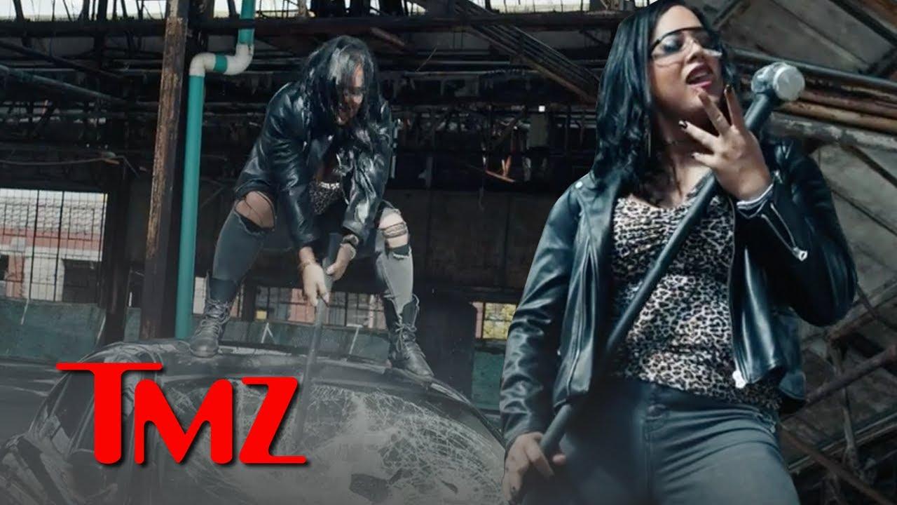 Director X & AEW's Nyla Rose Take Sledgehammer to Jaguar In Wild New Trailer!   TMZ