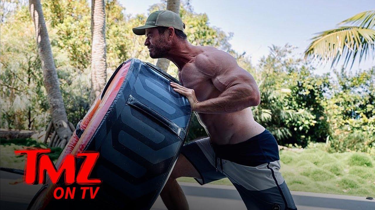 Chris Hemsworth Working On Body, Chris Pratt Pokes Fun | TMZ TV