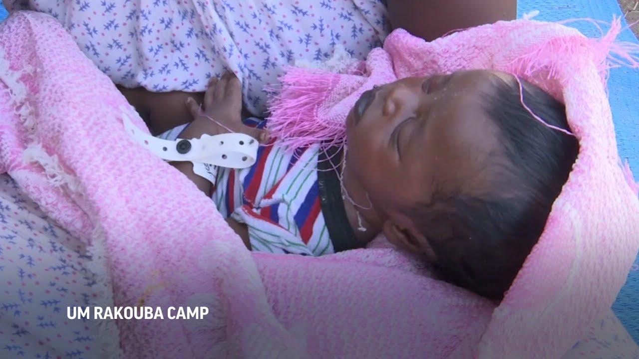 Ethiopian baby born on the run from war