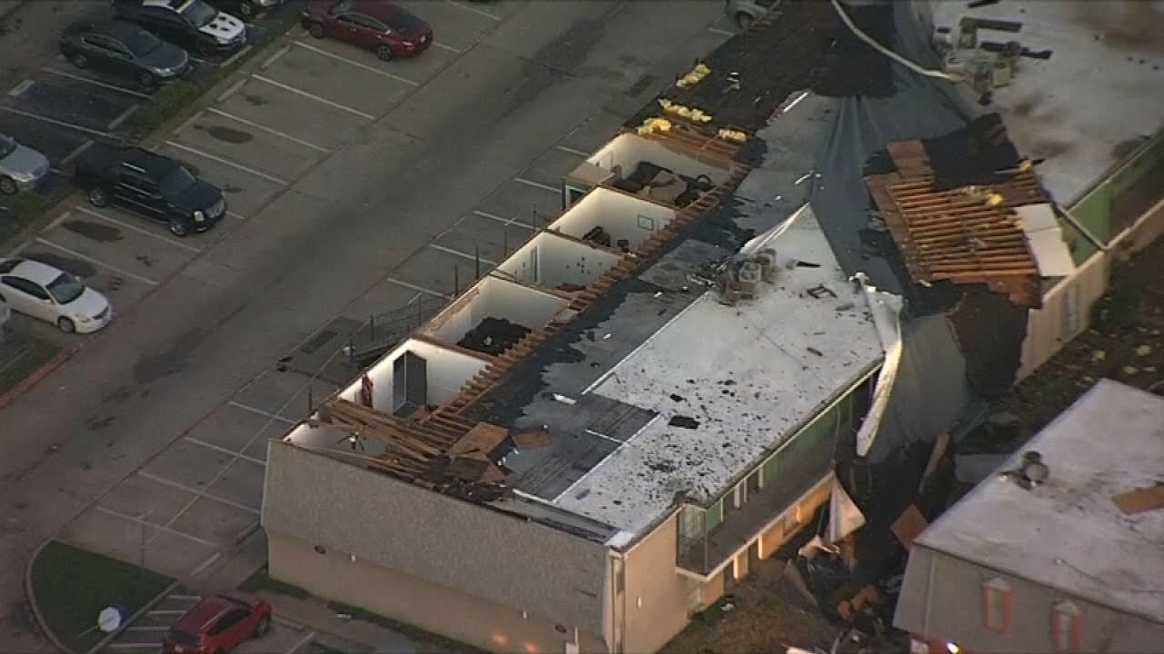 Aerial video shows storm damage in North Texas