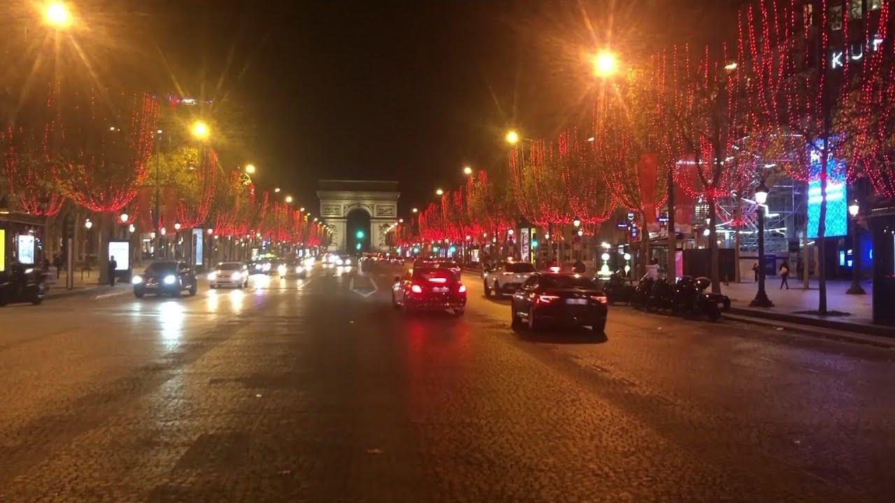 Paris unveils Christmas lights under pandemic