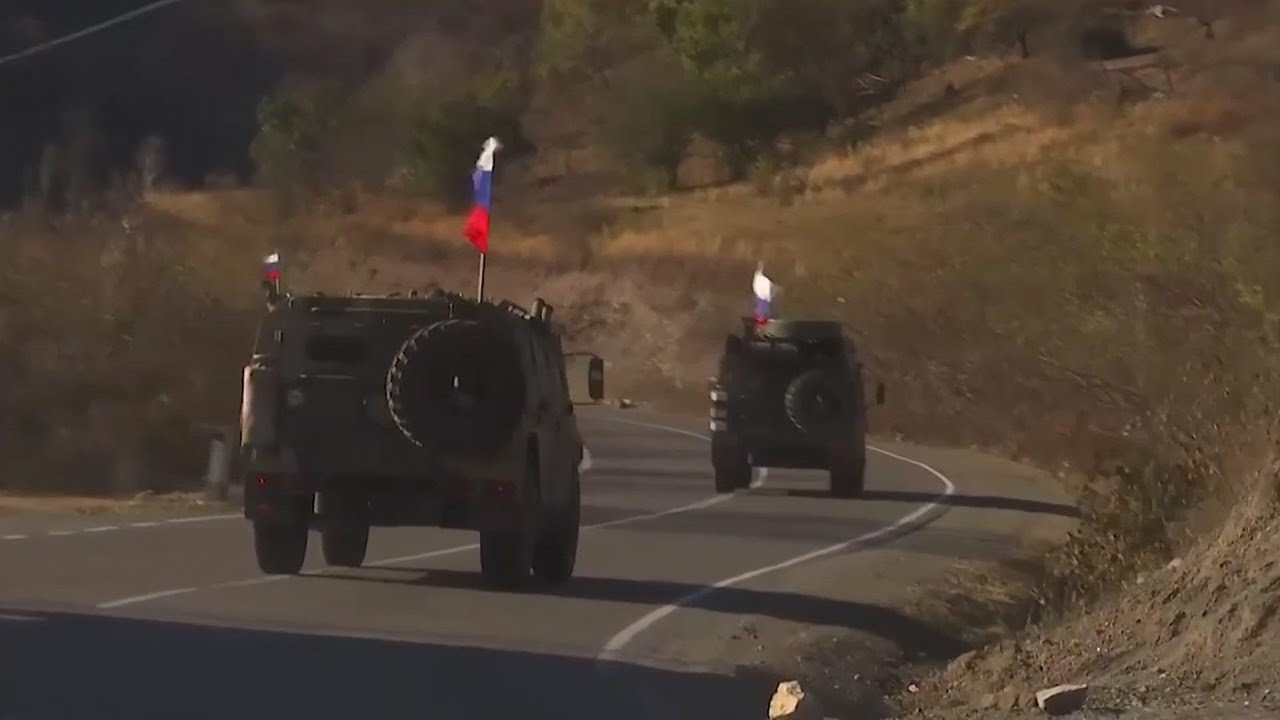 Russia peacekeepers in action in Kalbajar region