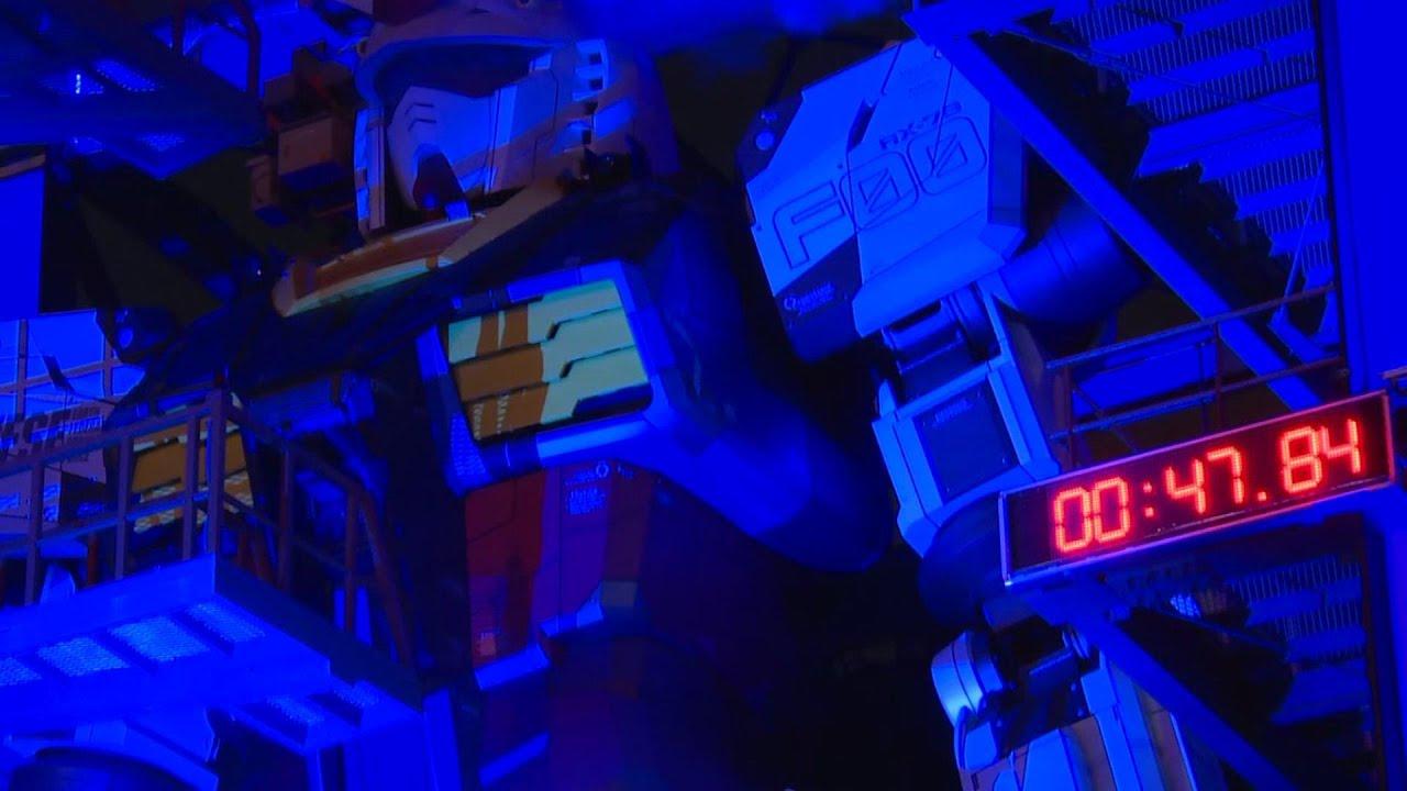 18-metre tall Gundam robot prepares for public debut