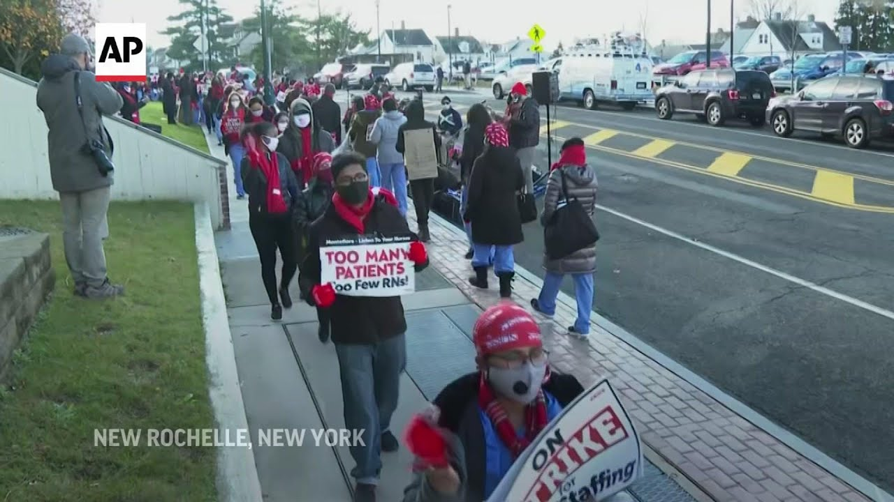Nurses at 2 NY hospitals strike over contract talks