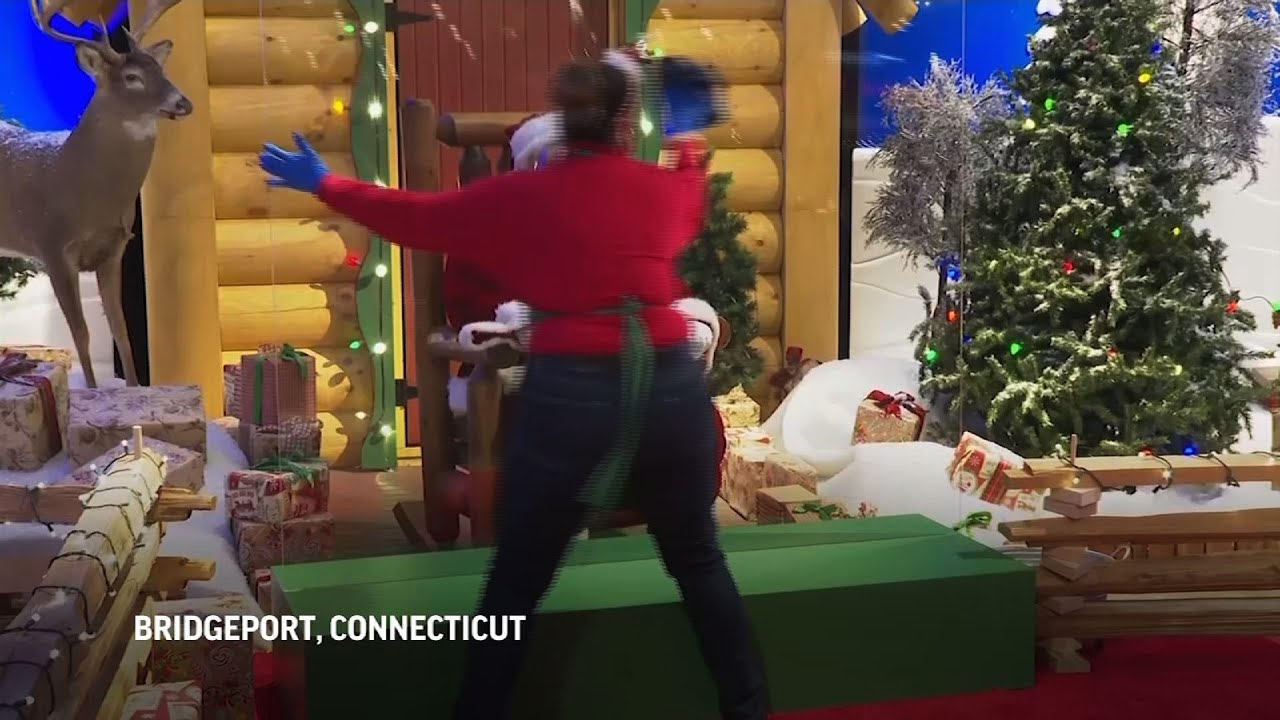 Virus keeping most Santas at a distance