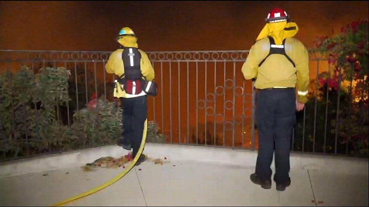 Wildfire threatening homes near San Diego