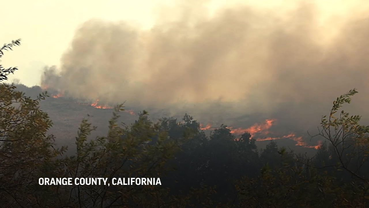 Strong winds fan Southern California wildfires