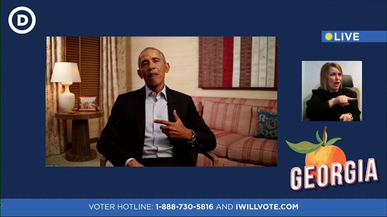 Former President Obama rallies for Georgia Dems