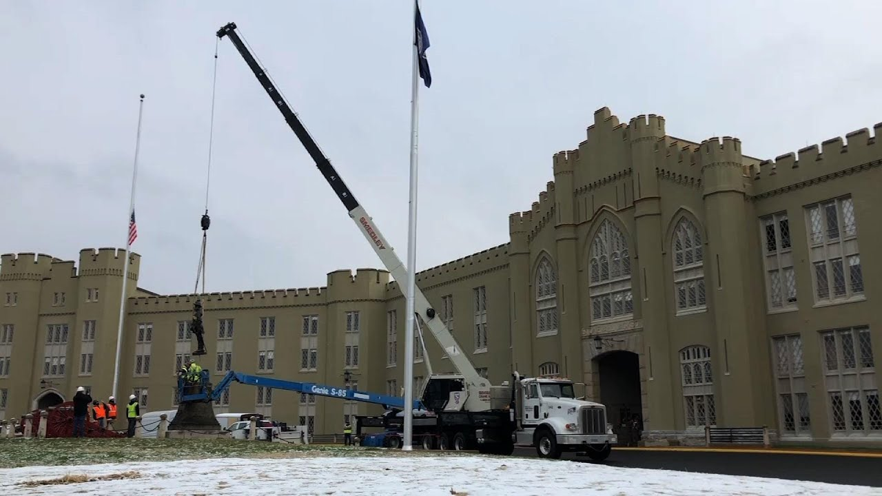 Military institute removes Confederate statue