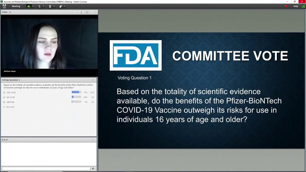 LIVE: An FDA panel considers emergency approval of Pfizer's COVID-19 vaccine