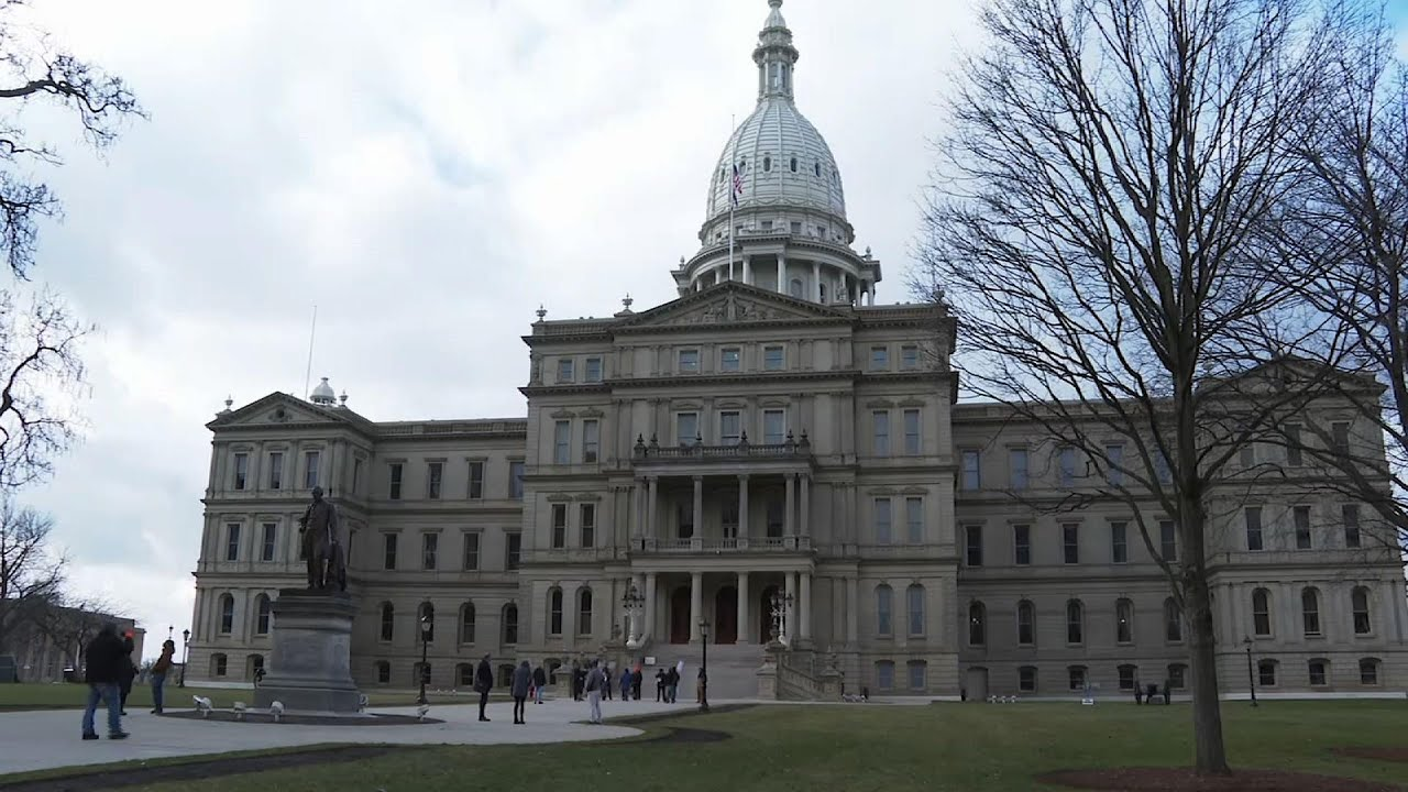 Rally at Michigan Capitol during electoral vote