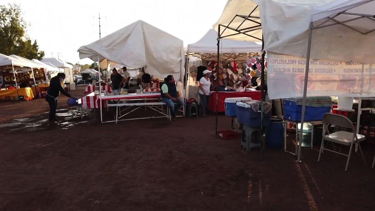 Los mercados mexicanos están llenos a pesar de la pandemia
