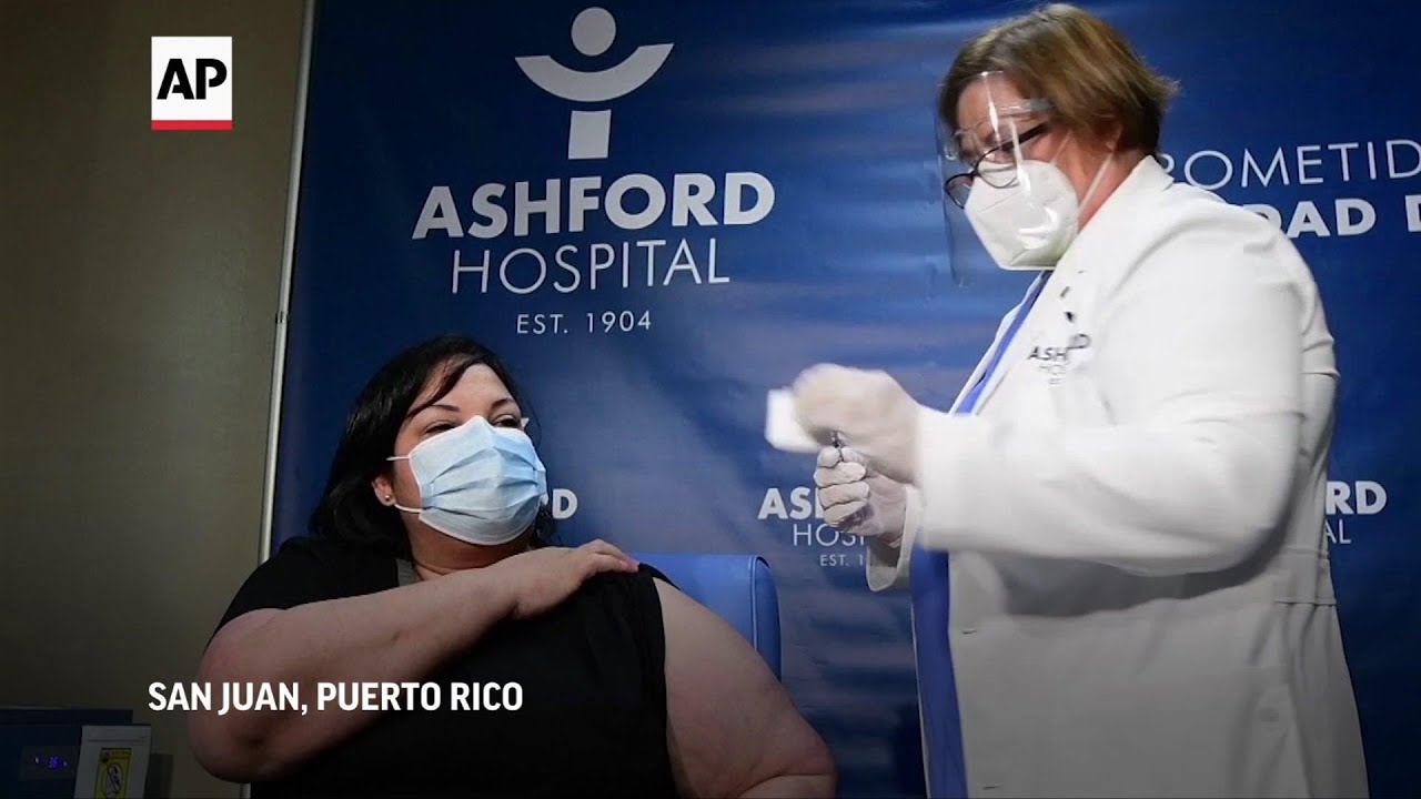 Terapeuta respiratoria recibe 1era vacuna en PRico
