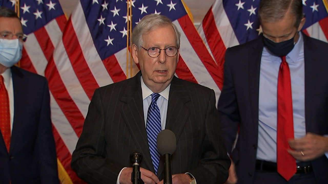McConnell sticks to GOP position on COVID relief