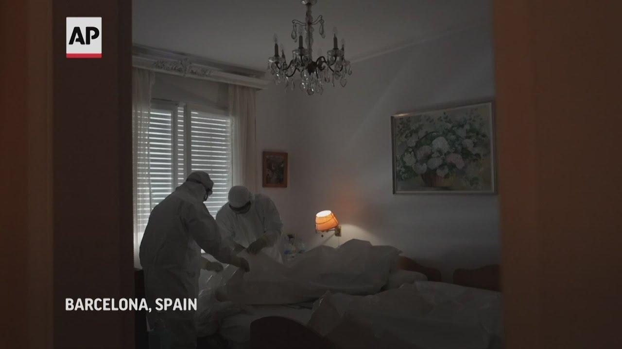 Madrid facility combats virus, loneliness in elderly