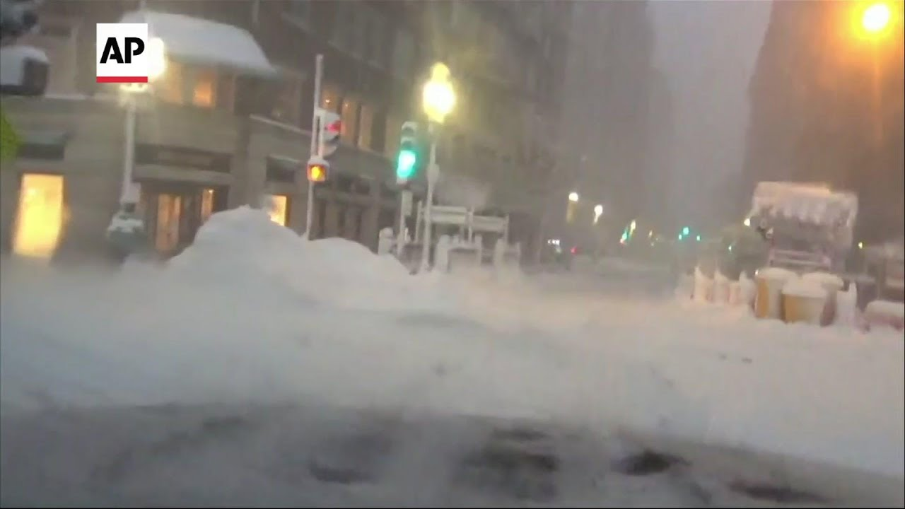 Record-breaking snowfall blankets Northeast