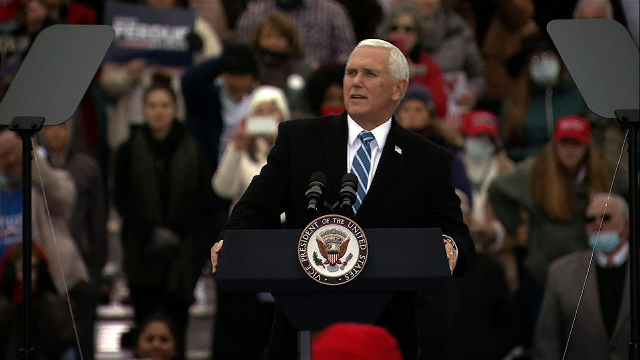 Mike Pence rallies in Georgia for Senate runoff